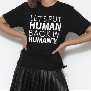 Sage Lane Humanity Tee Unisex Medium